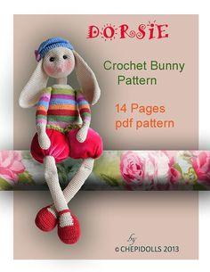 Crochet Bunny Pattern by chepidolls on Etsy, $12.60