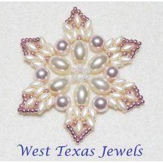 Snowflake 10 Beaded Ornament Pattern - Bead Patterns by Michelle Skobel