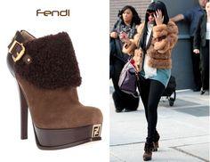 Nicki Minaj's Fendi Shearling Boots