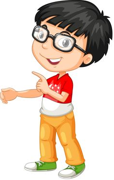 Asian boy wearing glasses vector image on VectorStock Cartoon Pics, Cute Cartoon, Frame Border Design, Storybook Characters, Fictional Characters, Boy Illustration, Butterfly Drawing, Asian Kids, Black Women Art