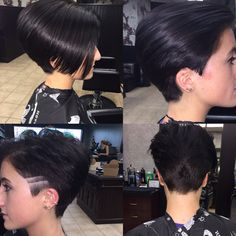 Ruby Rose inspired haircut (can also be a faux mohawk)