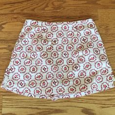 """Selling this """"Rose SKORT with back zipper size small"""" in my Poshmark closet! My username is: gnrstreasures. #shopmycloset #poshmark #fashion #shopping #style #forsale #Lovelife #Dresses & Skirts"""