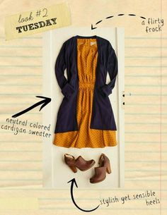 what to wear {back to school outfit for teachers} simple dress and cardigan