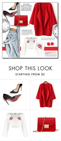 """""""Red Carnation !"""" by emapolyvore ❤ liked on Polyvore featuring Christian Louboutin and Hring eftir hring"""