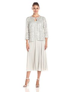 Alex Evenings Women's T-Length Mock with Hook Closue At Neck and Sequin Detail, Silver/White, 8 Alex Evenings http://www.amazon.com/dp/B017WTLIDO/ref=cm_sw_r_pi_dp_a-2Zwb1X1E863