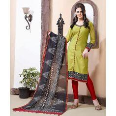 Ethnic Wear Readymade Green Salwar Suit - 79781