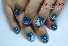Nail Art Whale 02.JPG 640×438 pixels