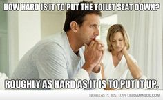 How Hard Is It To Put The Toilet Seat Down?