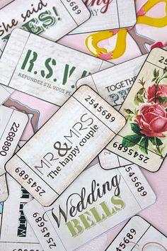 Free printable vintage style Wedding tickets