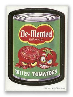Wacky Packages: De-Mented Rotten Tomatoes