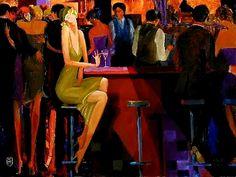 Avtandil Makharoblidze (b.1952) — Cocktails at the Club (800x601)