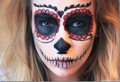 easy sugar skull makeup - Google Search
