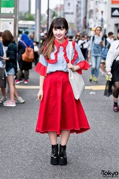 Here's cute Risa who we spotted in Harajuku wearing a red ruffle top by the Japanese brand RASPBERRYPIE with a red Jouetie skirt, Bubbles Harajuku patent platforms #love #TagsForLikes #TagsForLikesApp #TFLers #tweegram #photooftheday #20likes #amazing #smile #follow4follow #like4like #look #instalike #igers #picoftheday #food #instadaily #instafollow #followme #girl #iphoneonly #instagood #bestoftheday #instacool #instago #all_shots #follow #webstagram #colorful #style #swag#fashion