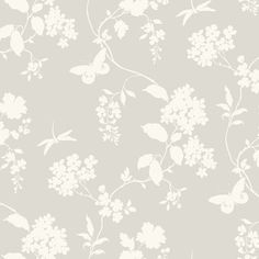 """York Wallcoverings Silhouettes Trailing 27' x 27"""" Floral 3D Embossed Wallpaper"""