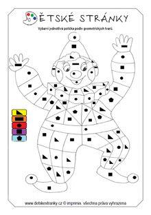Šáša - omalovánka podle geometrických tvarů