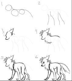 Another How-I-Draw by LilGreenTraveler on deviantART How to draw a cartoon wolf