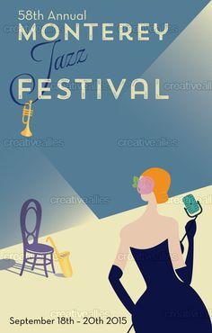Monterey Jazz Festival Poster by Gloria Genevieve on CreativeAllies.com