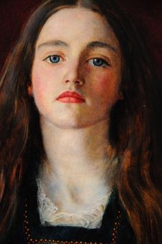 Portrait of Sophie Gray by John Everett Millais. Beautiful eyes