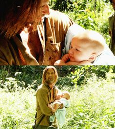 Sawyer with  Aaron is the cutest thing