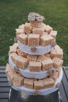 Maybe not as a wedding cake but a great snack!