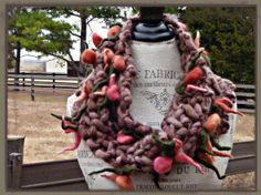 Flower Bouquet Cowl - Brown on Etsy, $54.00