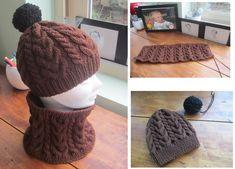 Tutoriel gratuit pour tricoter un ensemble Bonnet-Snood point Irlandais  pour toute la famille 463153d5e54