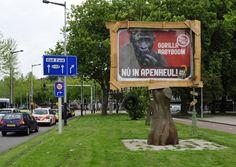 Leuke bill board reclame van de apenheul.