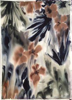 wowgreat:   Lourdes Sanchezuntitled floral 3, 2013 SANCH105 watercolor, 30 x 22 inches
