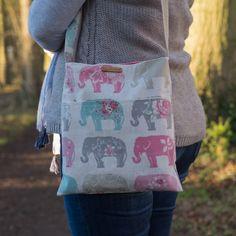 Elephant bag cross body messenger small purse elephant