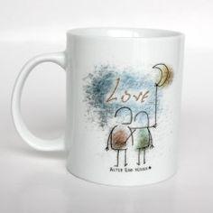 Mug design ilustration – LOVE - by silvanuno.com