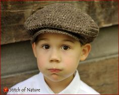 Crochet Hat PATTERN The Belmont Scally Cap by StitchOfNature