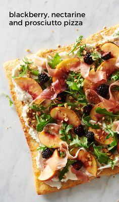 Blackberry, Nectarine and Prosciutto Pizza. A little bit cheese plate ...