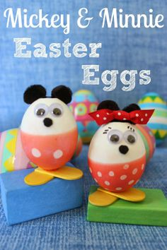 Mickey & Minnie Mouse Easter Eggs #Eastercrafts #mickeymouse #minniemouse
