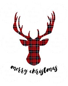 Merry Christmas Plaid Reindeer Instant by allmystarsdesigns Merry Christmas, Plaid Christmas, Christmas Quotes, Christmas Shirts, Christmas Time, Christmas Crafts, Christmas Decorations, Christmas Ornaments, Holiday
