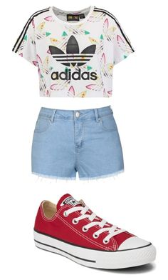 """Hola"" by spongebobty on Polyvore featuring Ally Fashion, adidas Originals and Converse"