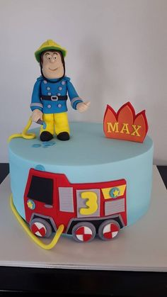 Fireman Sam (& Jupiter) Cake - Homemade By Hollie