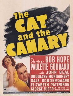 Cat and the canary #hope #goddard bob hope - 1927