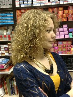 My most regular hairstyle ~ A full perm style, medium curl. It was a very Pretty & Feminine style that I could wear as a Boy.