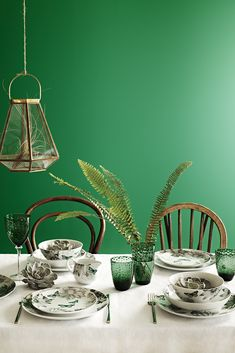 Bring the outdoors in this spring with the Botanist collection from @sainsburys. Freshen up your dining room with botanical tableware in elegant shades of green combined with textured glass for added interest.