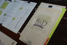 Blair and Danny's Accordion Style Wedding Invitations | The Turquoise Feathers Blog
