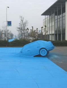 """Henk Hofstra - Intervention - """"Blue Road / Water is Life"""""""