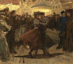 Isaac Israëls 'GIRLS DANCING ON A FAIR IN THE JORDAAN, AMSTERDAM' 1894