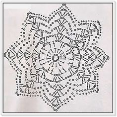 Crochet Stars, Crochet Snowflakes, Thread Crochet, Crochet Granny, Filet Crochet, Crochet Doilies, Crochet Motif Patterns, Crochet Diagram, Crochet Butterfly
