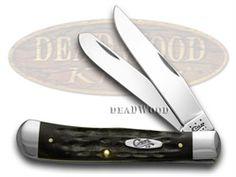 CASE XX Jigged Genuine Buffalo Horn Trapper Pocket Knife - CA65010 | 65010 - 021205650104