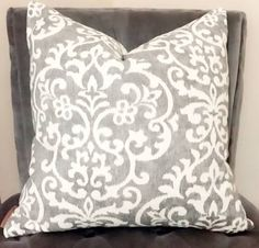 Gray Designer Pillow Cover-Light Gray Geometric Throw Pillow- Grey & White Home Decor Throw-Neutral Pillow Cover