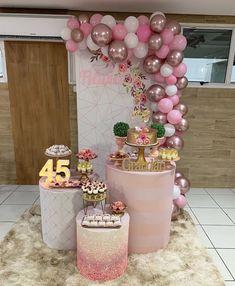 Barbie Birthday, Birthday Woman, Birthday Diy, Birthday Parties, Birthday Balloon Decorations, Birthday Backdrop, Table Decorations, 30th Birthday Ideas For Women, Holidays And Events