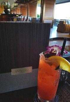 Catch a 'Tropical Wave' at #Waiolu. It's crafted with Strawberries, Basil, Fresh Lemon, & Lemon-Lime Soda. #TrumpWaikiki #Waikiki #Hawaii #Vacation #Paradise #Tropical #Strawberry #Drink