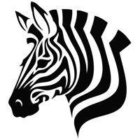 Zebra Head - Wall Size Animal Decal Vinyl Decor Graphics Wallpaper Sticker
