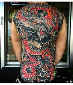 japanese with tattoos Japanese Back Tattoo, Japanese Dragon Tattoos, Japanese Tattoo Designs, Japanese Sleeve Tattoos, Backpiece Tattoo, Irezumi Tattoos, Tebori Tattoo, Geisha Tattoos, Full Body Tattoo