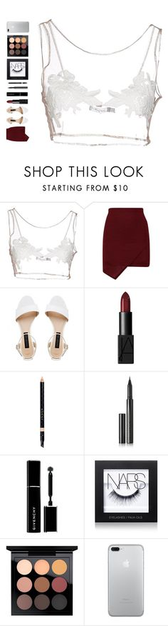 """the magic flute, k. 620, act ii: der hölle rache kocht in meinem herzen"" by ouchm4rvel ❤ liked on Polyvore featuring For Love & Lemons, Forever New, NARS Cosmetics, Gucci, Surratt, Givenchy and MAC Cosmetics"